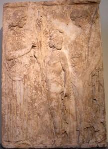 Deméter y Perséfone celebrando los misterios.